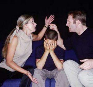 ребенок склонен винить в разводе родителей себя