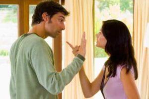 Жена с мужем ругаются