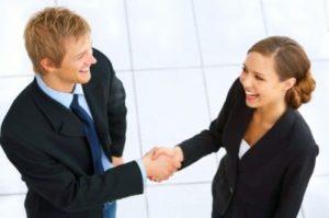 Рукопожатие партнеров