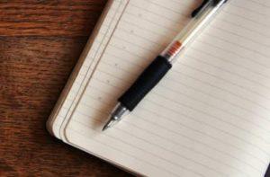 Ручка и тетрадка