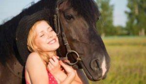 Радость от общения с лошадью