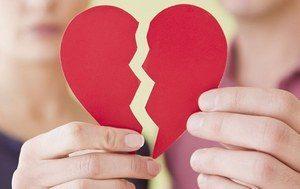 разорванное сердце как символ расставания