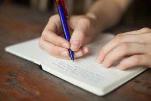 записать в тетрадь страхи