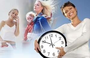 девушка с ребенком, часы