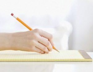 лист бумаги и карандаш