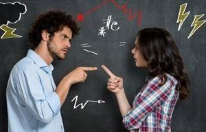 молодые люди выясняют отношения