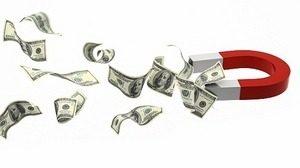 магнит и доллары