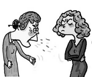 ссора женщин