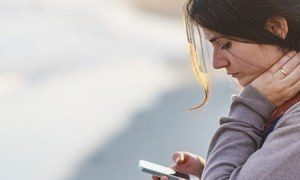 мобильный и девушка