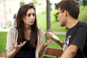 ссора молодых людей
